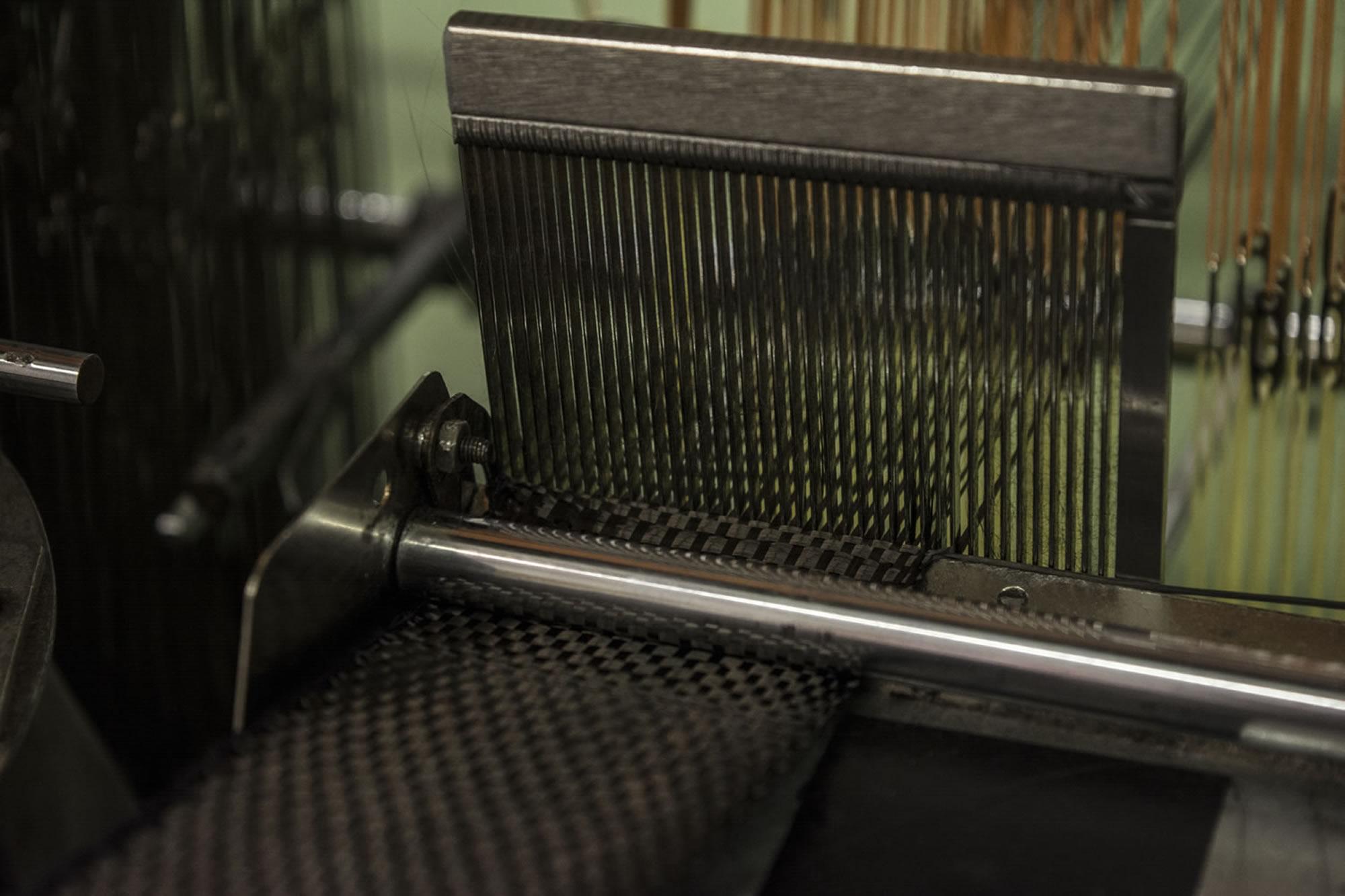 Weaving Carbon Fibre Webbing