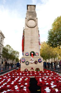 The Cenotaph Whitehall, London Following the Remembrance Day Parade in 2010